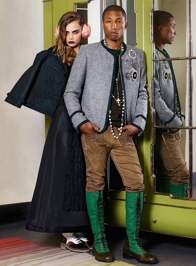 Cara Delevingne & Pharrell Williams Chanel
